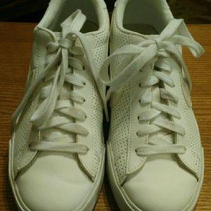 Ladies white leather Nike's